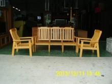 [全新] 庫存-松木沙發組椅宏品二手家具木製沙發全新