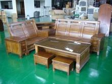 [全新] 全實木多功能收納櫸木L型組椅木製沙發全新