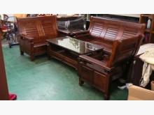 [全新] 宏品二手~原木樟木沙發椅木製沙發全新
