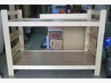 [全新] 樂居二手家具*全新實木上下舖 附單人床架全新