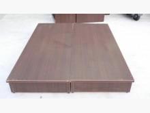 雙人5尺胡桃木床組 床架 床箱雙人床架無破損有使用痕跡