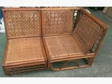 [9成新] 兩座單人籐沙發籐製沙發無破損有使用痕跡