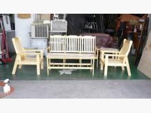 [全新] 全新實木木製沙發*實木組椅含大茶木製沙發全新