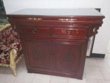 紅木的收納櫃收納櫃無破損有使用痕跡