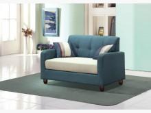 [全新] 喬治藍色雙人布沙發椅 桃園區免運雙人沙發全新