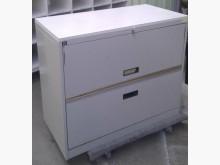 [9成新] 優美2層辦公文件鐵櫃辦公櫥櫃無破損有使用痕跡