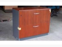 [9成新] 連欣二手傢俱-木製雙層櫃/柚灰色收納櫃無破損有使用痕跡