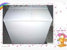 [9成新] 媽媽最愛*聲寶雙槽洗衣機8公斤洗衣機無破損有使用痕跡