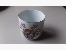 古早瓷器 亮麗彩繪花漾圖騰茶杯杯子無破損有使用痕跡