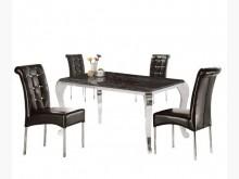 [全新] 不鏽鋼雲白龍石餐桌11500餐桌全新