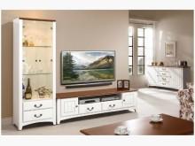 [全新] 維克多柚木白L型電視櫃19900電視櫃全新