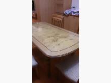 [8成新] 力興二手家具行法式伸縮餐桌餐桌有輕微破損