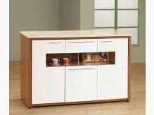 [全新] 柚木白4尺碗盤櫃特價8900碗盤櫥櫃全新