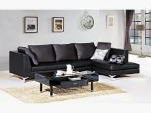 [全新] 義式L型黑色皮沙發L型沙發全新