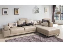 [全新] 丹尼L型米黃皮沙發L型沙發全新