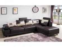 [全新] 丹尼L型咖啡皮沙發L型沙發全新