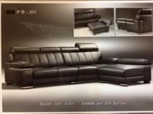 [全新] 雷霸龍L型半牛皮沙發~可訂色訂做L型沙發全新