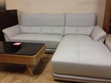 [全新] 凱迪龍L型半牛皮沙發~可訂色訂做L型沙發全新