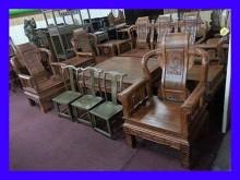[全新] 宏品家具 庫存-戰國客廳桌椅組木製沙發全新