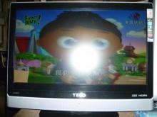 [8成新] 東元22吋液晶色彩鮮艷畫質清晰電視有輕微破損