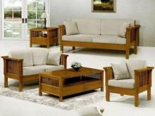 [全新] 魯娜柚木組椅~可拆買木製沙發全新