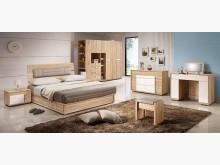 [全新] 多莉絲北原橡木5尺皮床片4900雙人床架全新