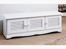 [全新] 愛莉森鄉村白色4尺真百葉座鞋櫃鞋櫃全新