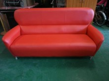 [全新] 全新/庫存 大紅色3人皮沙發多件沙發組全新