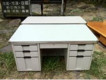 [8成新] 大尺寸辦公桌!橫式+雙邊各三抽屜辦公桌有輕微破損