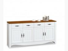 [全新] 鄉村柚木白5尺餐櫃下座11600碗盤櫥櫃全新