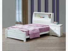 [全新] 芬妮白色3.5尺書架床台9900雙人床架全新