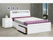 [全新] 白色5尺抽屜床台特價$17800雙人床架全新