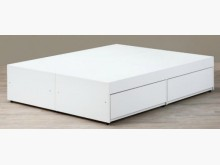 [全新] 白色5尺抽屜床底特價$9900雙人床架全新
