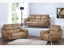 [全新] 蘭斯卡其色皮沙發全組40600多件沙發組全新