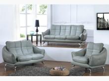 [全新] 布魯克灰皮沙發全組特價42600多件沙發組全新
