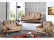 [全新] 布魯克卡其色皮沙發全組42600多件沙發組全新