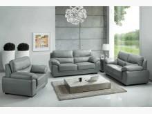[全新] F16灰皮沙發全組特價33800多件沙發組全新