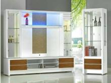 [全新] 威尼斯9尺白色酒櫥 桃園區免運費高低櫃全新