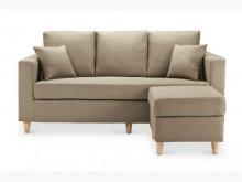 [全新] 艾斯卡淺咖啡L型布沙發11300L型沙發全新