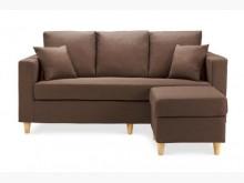 [全新] 艾斯卡咖啡色L型布沙發11300L型沙發全新