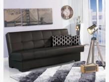 [全新] 咖啡色皮革置物功能沙發床沙發床全新