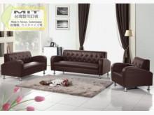 [全新] 戴爾咖啡色皮沙發(全組)多件沙發組全新