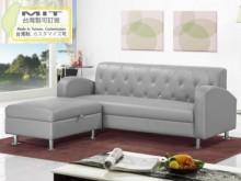 [全新] 戴爾灰色皮L型沙發L型沙發全新