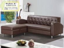 [全新] 戴爾咖啡色皮L型沙發L型沙發全新