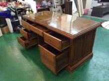 [8成新] C-168*柚木高級辦公桌+椅辦公桌有輕微破損