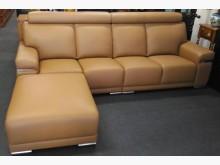 [全新] 卡地亞耐燃皮L型沙發 桃園區免運L型沙發全新