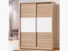 [全新] 喬詩特烤白雙色5尺推門衣櫥衣櫃/衣櫥全新