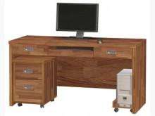 [全新] 肯傑柚木色5尺電腦桌(全組)電腦桌/椅全新
