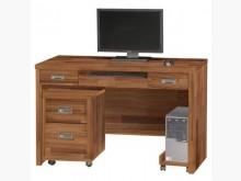 [全新] 肯傑柚木色4尺電腦桌(全組)電腦桌/椅全新