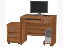 [全新] 肯傑柚木色3尺電腦桌(全組)電腦桌/椅全新
